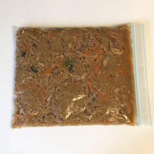 切り干し大根ごま酢和え-ジッパー付き保存袋に